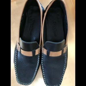 Cole Haan Gently Worn Leather Loafers.